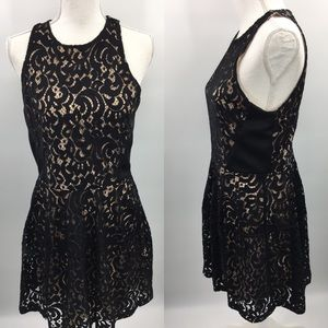 Mossimo lace lined sleeveless black dress